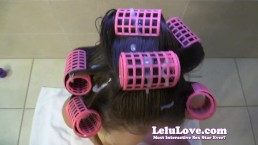 Lelu Love-POV HJ BJ Cum In Hair Curlers Hairwashing