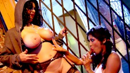 Big tit latinas Alexis Amore and Sienna West in lesbian sex