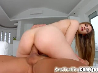 Jap Cameltoe Fucking, Stella Cox gets anal on Ass Traffic