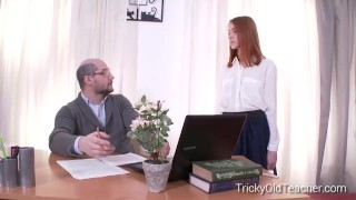 Tricky Old Teacher - Sandra gets tricked into sex by her perverted teacher Naked nude