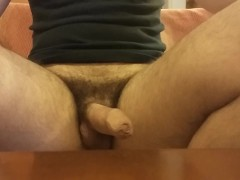 Erection and Cumming Hands Free on Couch