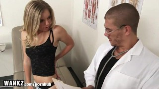 WANKZ - Hot College Girl Fucked Hard By Fake Doctor! Tits this