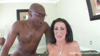 Jayden takes on Sean's big black cock Outdoor cock