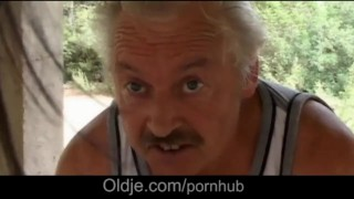 Preview 3 of Dirty minded two besties makes a stranger oldman their sex toy