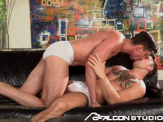 FalconStudios Huge Dick Kross Fucks Tight Hunter