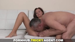 Tricky Agent - Making her first adult movie
