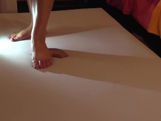 Barefoot cockcrush with cruel sexy feet and cumshot