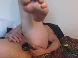 TransMan FTM Solo Hard Pussy Fuck & Cum