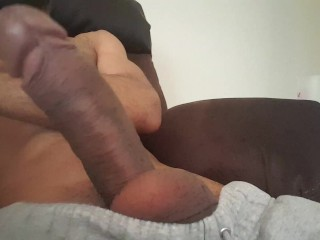 Bored, and so horny I cum without touching it