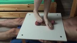 Bafe feet cock and balls trampling stomping
