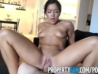 PropertySex – Thieving Asian real estate agent fucks her way out of trouble