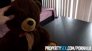 PropertySex - Thieving Asian real estate agent fucks her way out of trouble Dinosaur cum