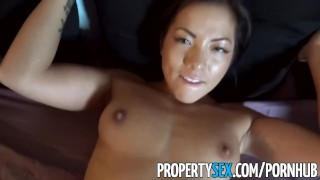 PropertySex - Thieving Asian real estate agent fucks her way out of trouble Kink sarah