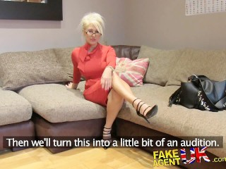 Ready To Fuck Now Fucking, FakeAgentUk Massive facial for hot blonde MILF Big Tits MILF Casting Brit