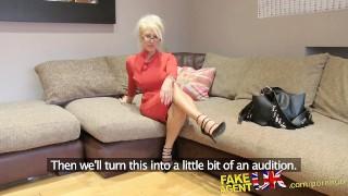 FakeAgentUK Massive facial for hot blonde MILF