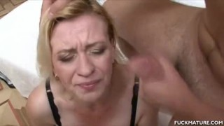 Mature Gets Cum In The Mouth After A 3some porno