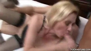 Mature Gets Cum In The Mouth After A 3some Voyeur pussy