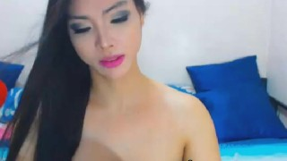 Passionate tranny babe faps cock in a horny play