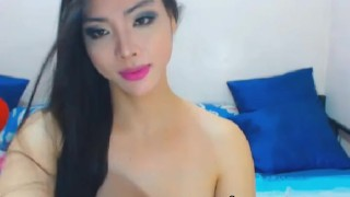 Passionate tranny babe faps cock in a horny play Webcam amateur