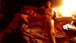 Submissive wife and Daddy getting off