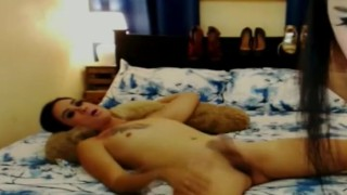 Hot and Steamy Sex By Sexy Shemales Asian blowjob