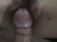 Fucking wet pussy with brazilian big dick close up