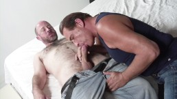 Gay grandpas are horny to fuck each other