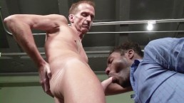 Big dick black guy JD Daniels drilling a white grandpa's tight ass