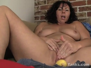 Preview 6 of Sexy Lynn Fucking A Vegetable