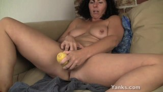Preview 4 of Sexy Lynn Fucking A Vegetable