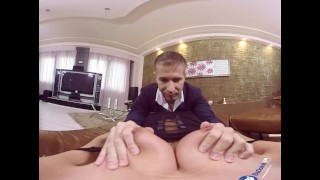 BaDoinkVR 180 - In Her Shoes: Otto Blowjob 90s