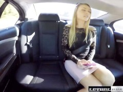 Uber Driver busted by Cops while fucking teen Sadie Blair in car