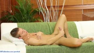 Shane Mason Jerks Off On Sofa Gay twink
