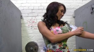Jessie Ross sucks huge white dick - Gloryhole  jessie ross hd videos ebony black blowjob gloryhole pornstar fetish hardcore kink dogfart interracial dogfartnetwork shaved glory hole