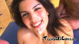 Cute Teens on Cum