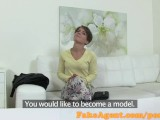 FakeAgent Student gets spunked over in casting