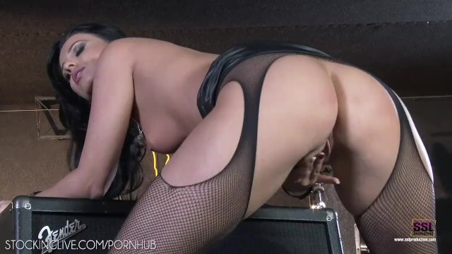 Wild sexy chunky heel boots Vicky love in sexy black dress fingering pussy wild
