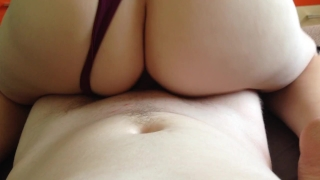 Sperm on the ass and pussy girls. Big blindfold