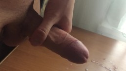 massive cumshot after long masturbate...