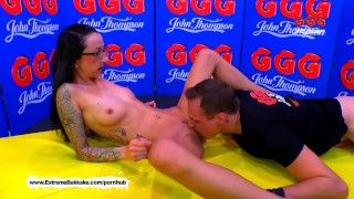 Pounded gets her pussy casting extreme in skinny bukkake milf casting
