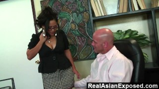 RealAsianExposed - Jessica Bangkok Is the Best Secretary Ever  doggy style big ass big tits babe glasses reverse cowgirl trimmed asian blowjob cunnilingus hardcore office secretary realasianexposed facial jessica bangkok
