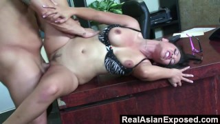RealAsianExposed - Jessica Bangkok Is the Best Secretary Ever hardcore asian blowjob big ass office jessica-bangkok babe glasses realasianexposed secretary big-tits cunnilingus reverse-cowgirl doggy style trimmed facial