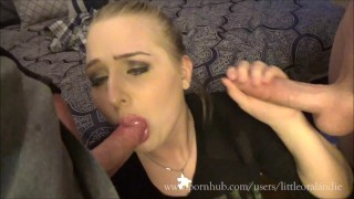 2 Cocks 1 Mouth: Husband & Co-Worker Empty Loads In Cumdumpster Wifes Mouth Cross fuck