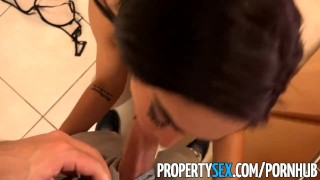 PropertySex - Hot Latina real estate agent fucks her client like a pornstar Busty perky
