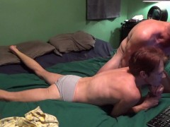 First Night on Chaturbate Sucking Cock