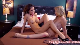 Hot Milf Julia Ann is a Lusty Lesbo!