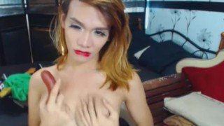 Shemales cam dirty on two playing horny shemale fake