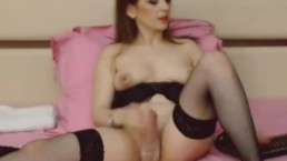 Pretty Tranny Pleasures Cock Tenderly