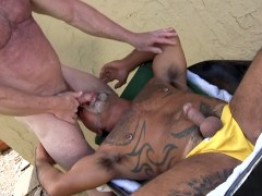 Daddy Bears Bo Banger and Mickey Collins Fuck Outdoors