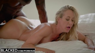 BLACKED Cheating MILF Brandi Love's First Big Black Cock Butt big